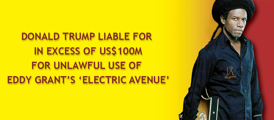 Donald Trump liable for unlawful use of Electric Avenue